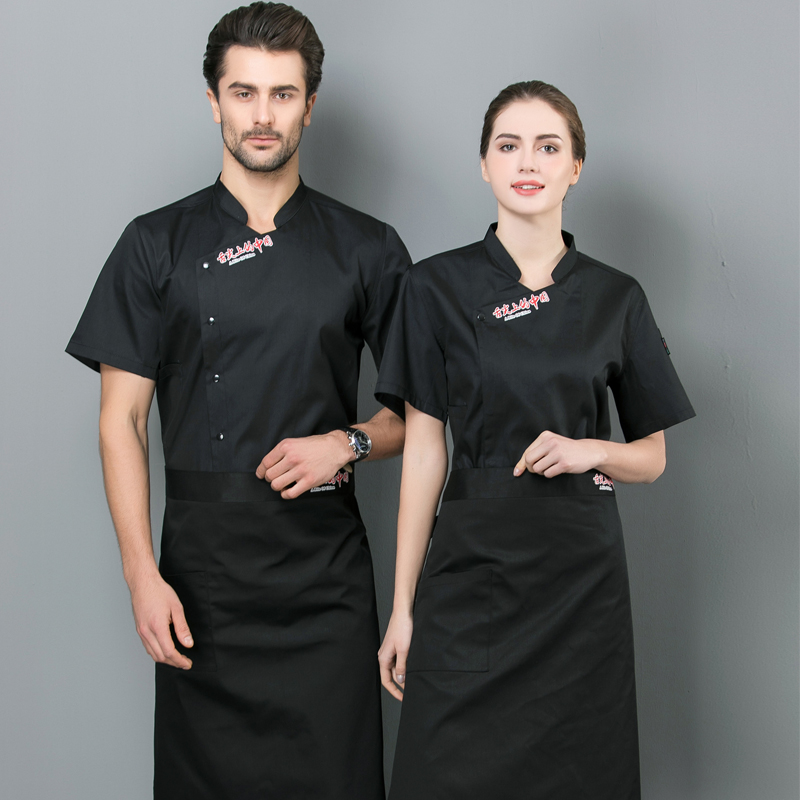 Cooking, catering, chefs clothing, custom made printed half sleeve summer clothes, bread and hamburger masters work clothes, cake masters clothing