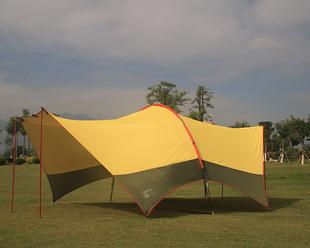 哈比帐天幕帐篷防晒银胶户外多用途超大遮阳棚雨棚多人户外露营