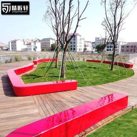定制玻璃钢座椅户外坐凳创意异形树池休闲椅学校公园商场长条凳