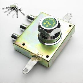 老式防盗门自动门锁 旋钮锁航鹰华鹰十字自动碰锁更换叶片C级升级