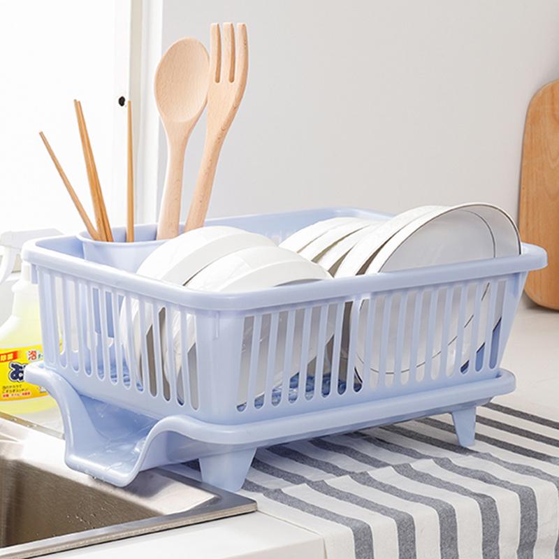 日本进口厨房收纳架置物架碗筷收纳盒碗碟餐具沥水架碗架水槽沥水券后69.00元