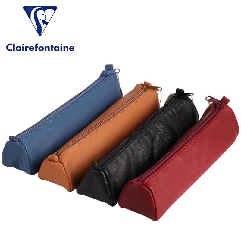 法国Clairefontaine克莱方丹柔软羊皮笔袋AGE BAG羊皮收纳袋