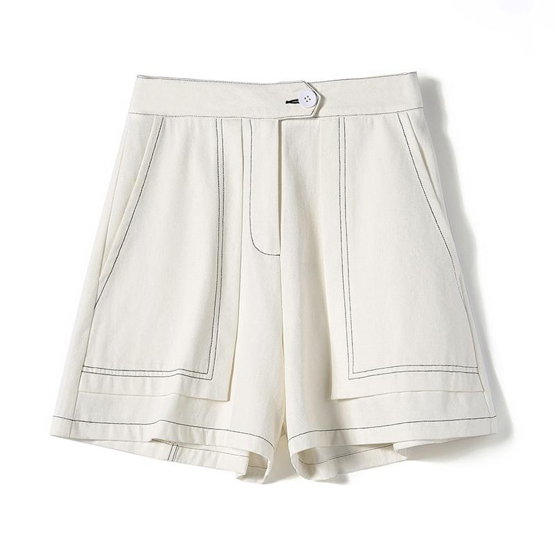 高腰设计感百搭阔腿短裤