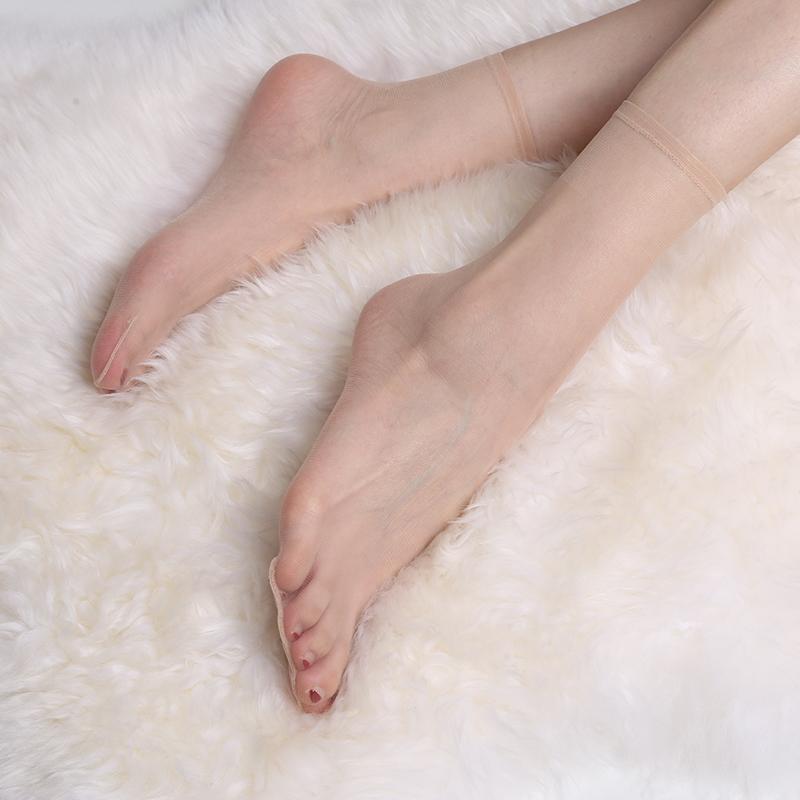 3盒肉色丝袜女短袜超薄隐形玻璃丝透明超薄水晶丝薄款袜子春秋款