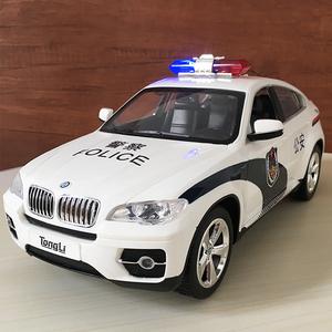 遥控警车玩具电动高速越野大号男孩汽车模型四驱110声光儿童赛车