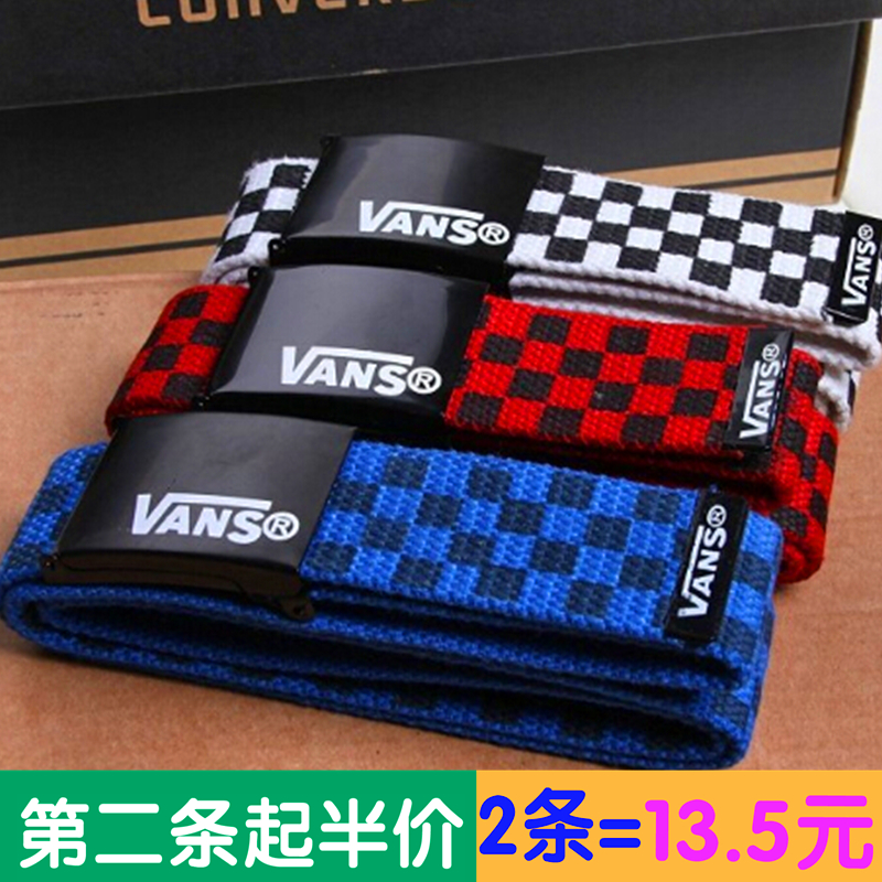 Versatile Korean mens and womens Leisure Canvas Belt fashionable canvas young students belt width