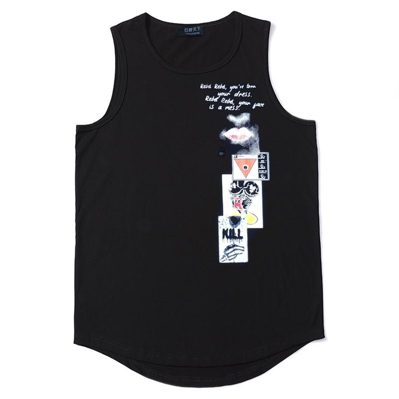 2018夏季潮胖人加肥加大码男装超大号休闲圆领无袖T恤8XL肥佬背心