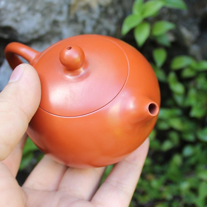 紫砂壶倒把西施潮州手拉壶手把全手工紫砂壶特价仿古朱泥小紫砂壶