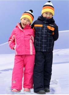 Thick overalls children boys and girls ski suit ski suits Jackets outdoor clothing double eleven