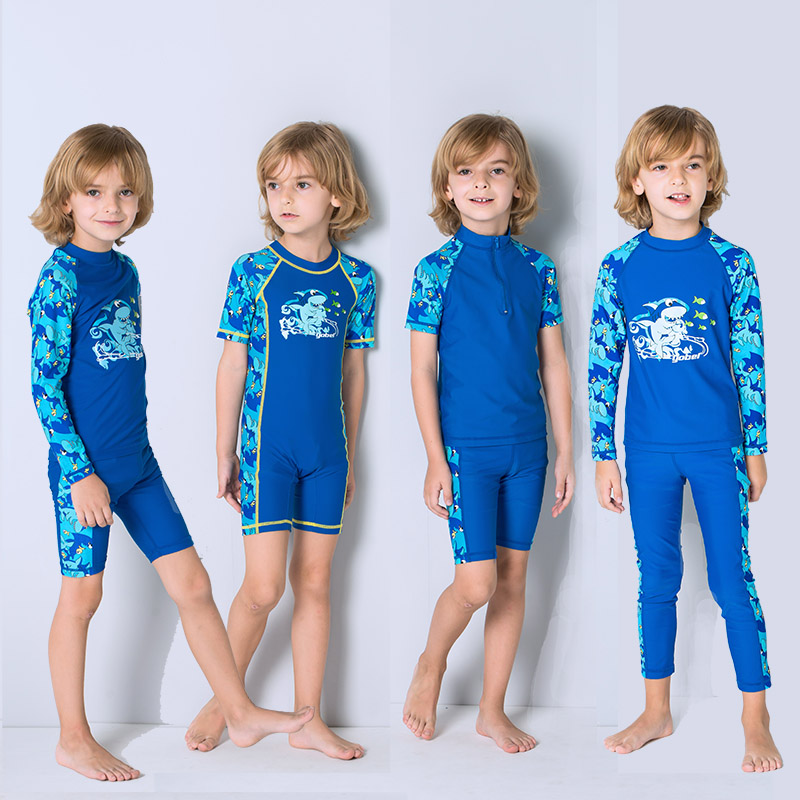 新款儿童男童分体中大童温泉泳装
