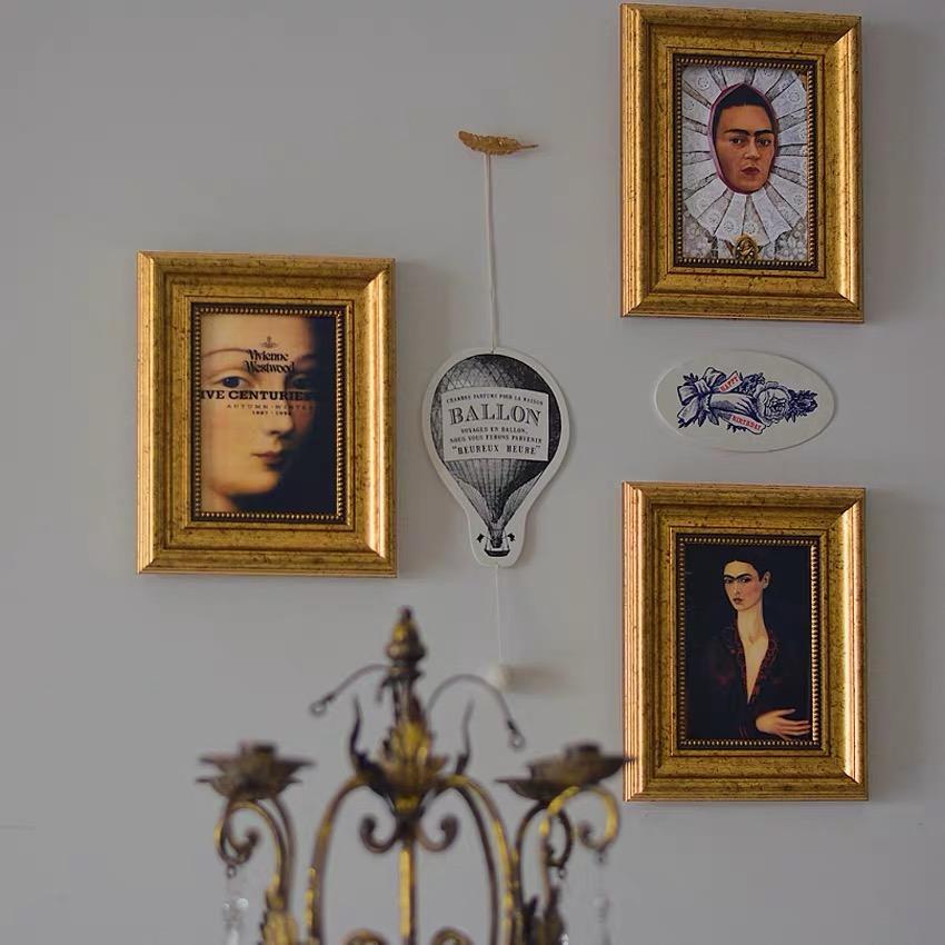 微微安画框frida弗里达自画像复古相框摆台小众轻奢欧式古典油画 Изображение 1