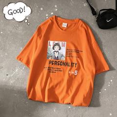 20/夏 韩版宽松圆领卡通动画短袖T恤男 T1971 P25