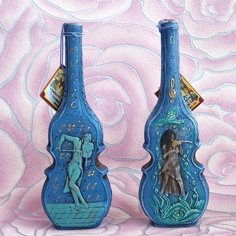 进口俄罗斯红酒 格鲁吉亚风情彩陶瓷 瓶 半甜葡萄酒 酒柜酒吧摆件