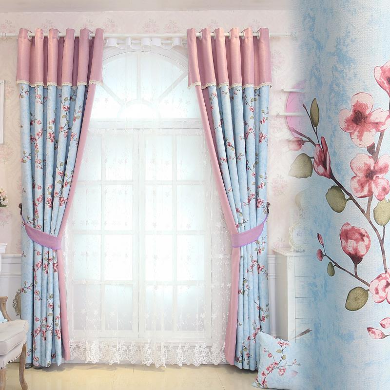韩式田园棉麻飘窗窗帘成品布料客厅卧室定制落地窗地中海