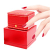 China Wind high-end necklace box ring box earring jewelry box to put high-end European-style jewelry box with lock red