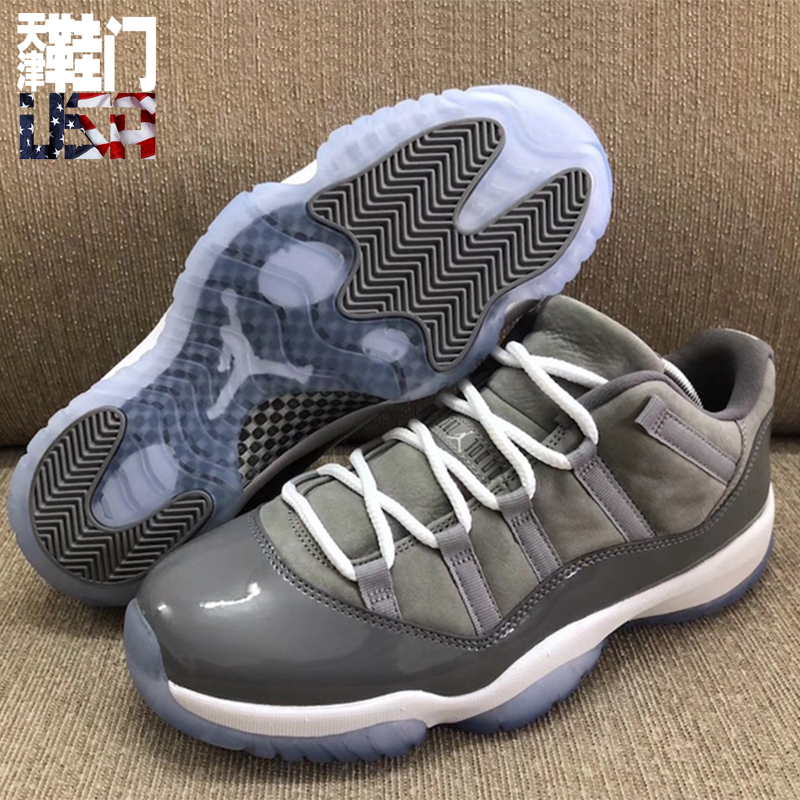 鞋门 Air Jordan 11 Low Cool Grey AJ11 酷灰低帮 528895-003