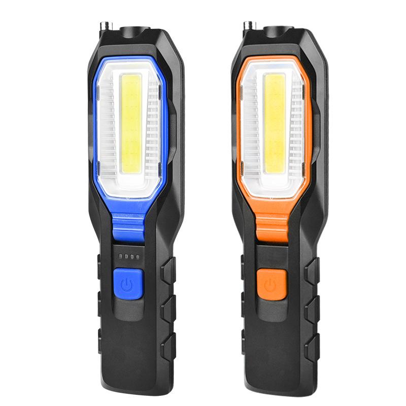 Auto repair work light LED super bright strong light anti falling charging auto repair light emergency lighting with magnet flashlight