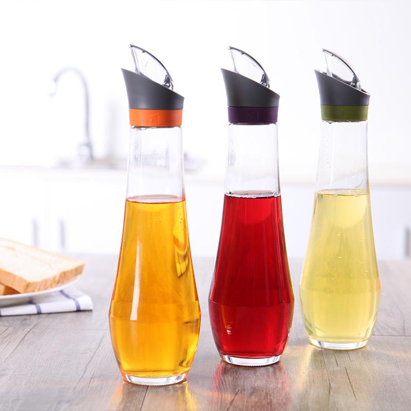 加拿大Trudeau油瓶耐熱油壺油瓶廚房家用玻璃防漏醬油醋瓶