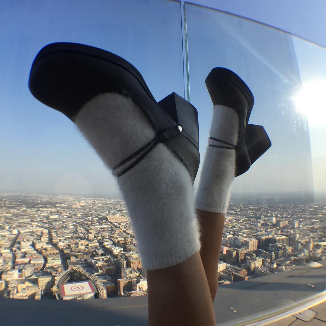日系复古玛丽珍鞋女2019春新款粗跟方头单鞋一字扣真皮厚底高跟鞋