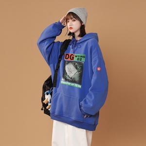 XZ607-1-WY125-P45 印花袖标连帽卫衣,女装卫衣/绒衫,星座607-1,茌平县伟伟服装网店