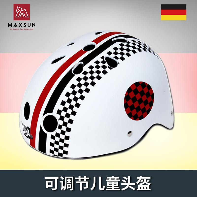 Maxsun подлинный ребенок шлем катание на коньках дети защитное снаряжение мотоцикл шлем мальчик девушка регулируемые окружность головы