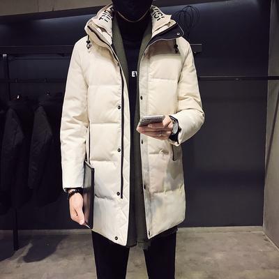 MY905-P215冬季新品双层领男士中长款连帽修身棉衣 100聚酯纤维
