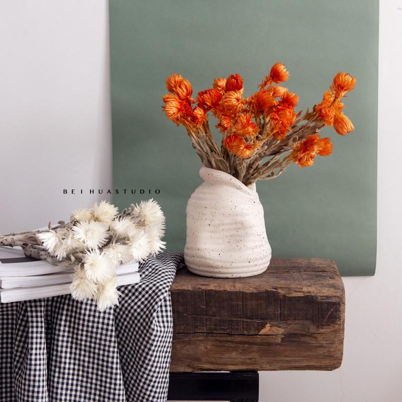 北欧现代莫兰迪色干花 进口岩石花 民宿桌面家居软装饰品拍摄道具