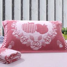 【天天特价】促销纯棉枕巾加厚加大一对装柔软全棉卡通正品不掉色