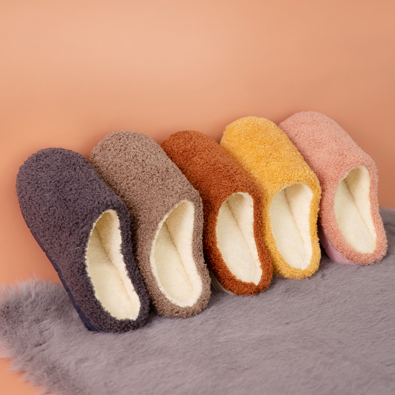 2021 new cotton slippers for women in autumn and winter indoor couples at home warm and anti-skid monthly suede slippers for men