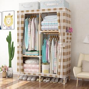 出租房简易现代简约实木布艺衣柜