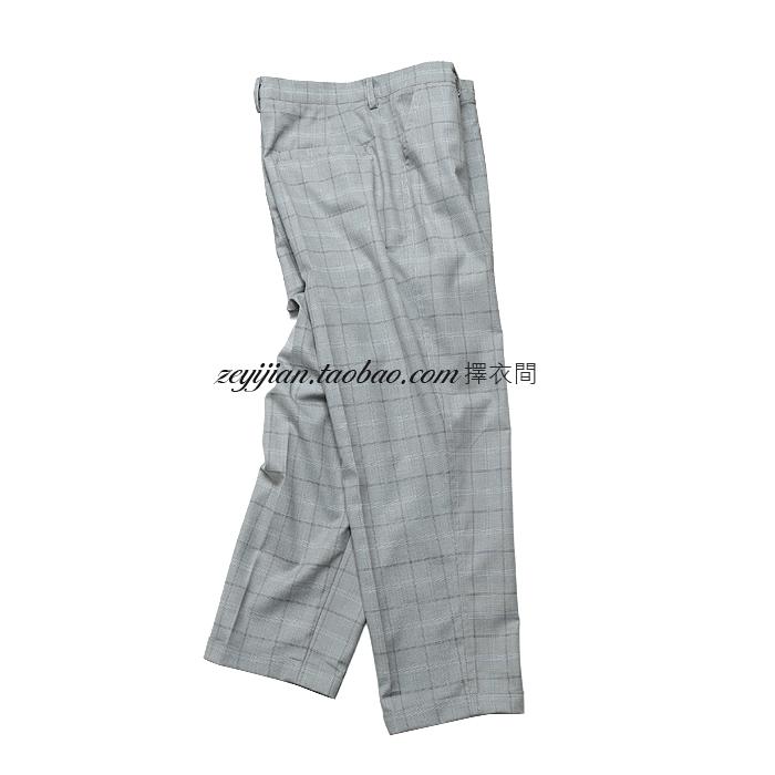 择衣间 原创 夏季 速干型 小千鸟色织格纹 阔腿九分裤