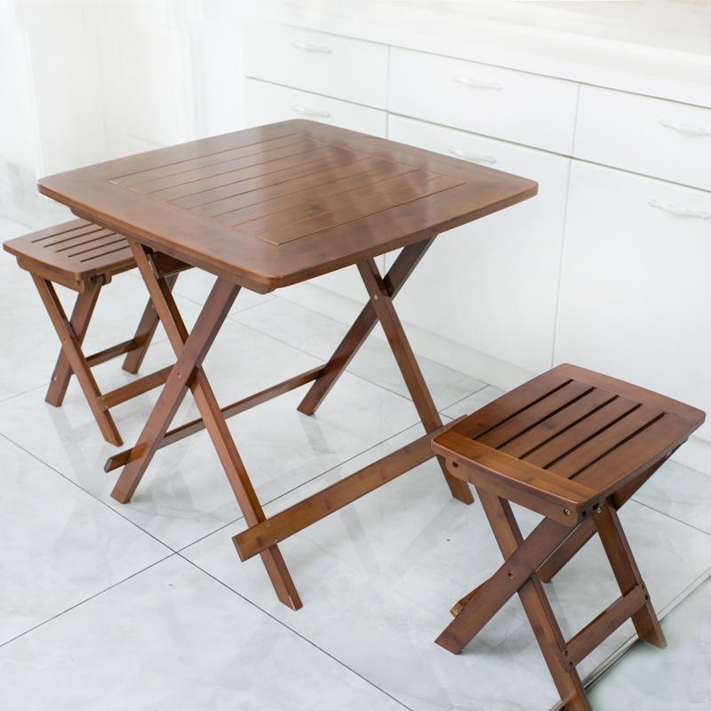 新品楠竹折叠桌休闲便携式桌子餐桌阳台吃饭桌简约喝茶写字小桌子