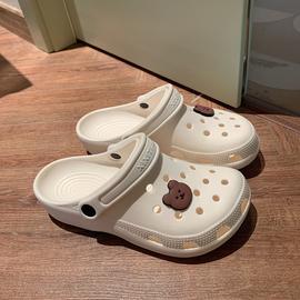 细细条 洞洞鞋女ins潮防滑可爱少女心包头沙滩凉拖鞋夏外穿护士鞋图片