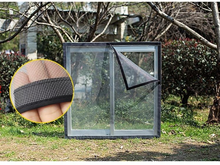 定做家用纱窗纱网自粘型简易磁性门帘自装魔术贴防蚊沙窗帘可拆卸