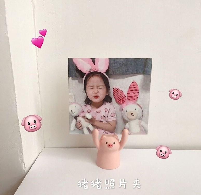 Japanese cure small ornaments Desk Decoration decoration small things ins girl lovely surrender show card pig pig frog
