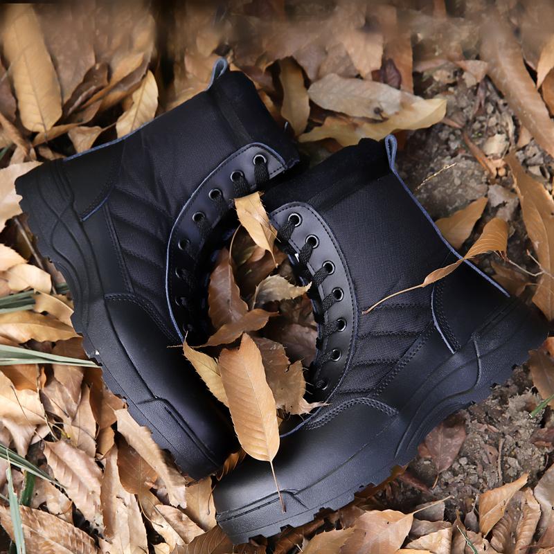 夏季作战靴男军鞋 超轻特种兵军靴透气沙漠战术靴高帮防滑陆战靴