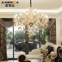 European chandelier Modern crystal lamp villa living room lamp creative luxury bedroom lighting simple atmosphere Restaurant lighting