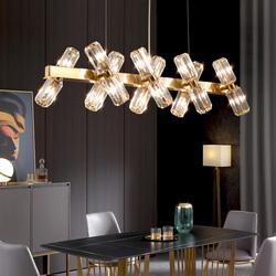 2019新款后现代水晶吊灯网红轻奢客厅灯港式餐厅灯北欧创意美式灯