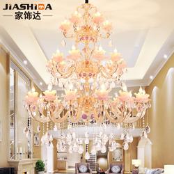 家饰达奢华欧式水晶灯简约大气吊灯奢华复式楼客厅灯餐厅灯具9003