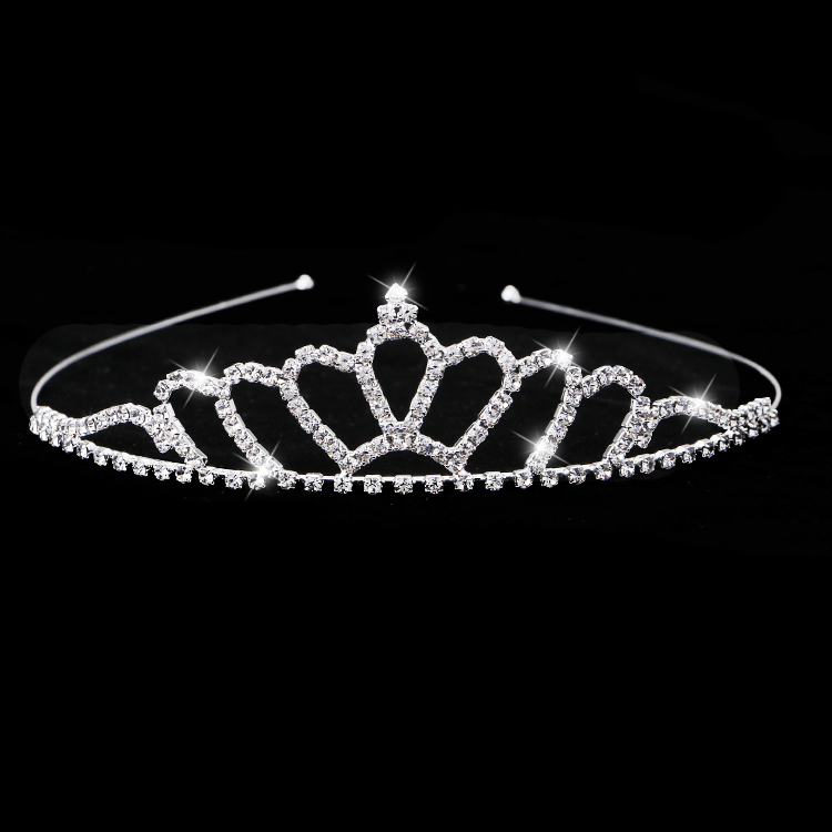 New package mail childrens crown hairband Princess headdress little girls hair ornament girl flower boy shining diamond crown