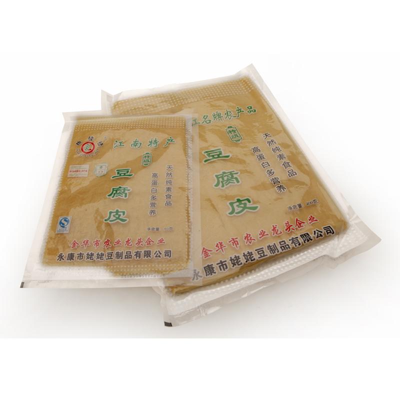浙江胡姥姥 豆腐皮 豆腐干原味 豆制品 干货 油皮 400克方形 豆衣