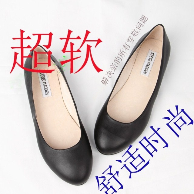 Hot selling sheepskin candy color round head shallow mouth flat bottom flat heel womens shoes inside and outside real leather shoes ladle shoes boat shoes