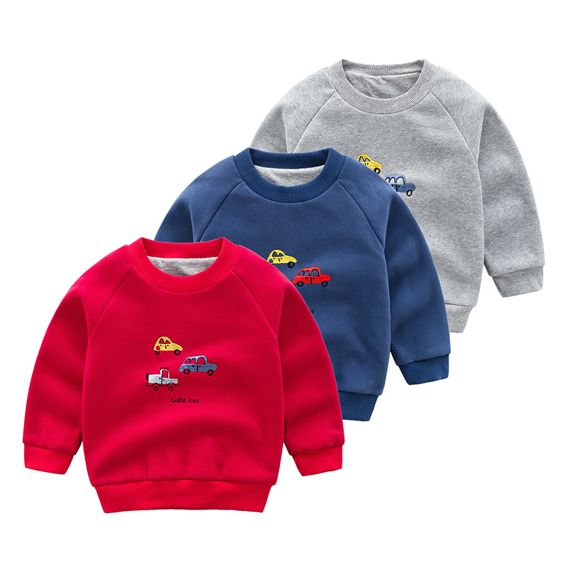 子供用のガーディアンの男性用厚手のプルオーバーの赤ちゃんの2階のボトムカーの子供用保温上着の綿と秋冬