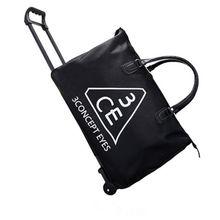 拉杆包旅行包女韩版手提轻便折叠大容量短途行旅潮男小怪兽行李袋