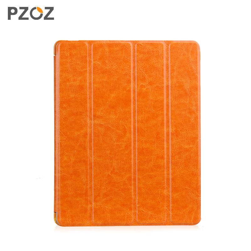 Pzoz 蘋果ipad4保護套 超薄ipad3智能帶休眠皮套 ipad2支架外殼潮