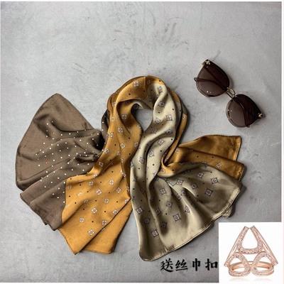 艾米家丝巾方巾时尚洋气百搭女围巾送39元三环丝巾扣