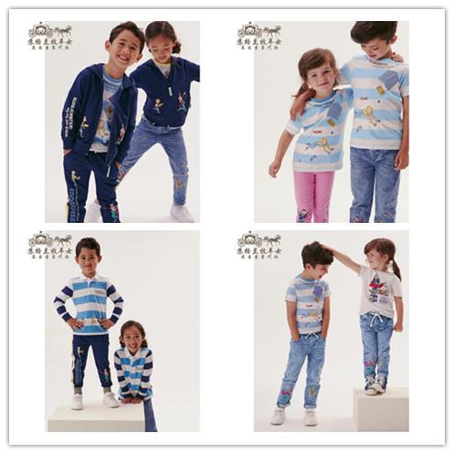 M&S玛莎代购 女童2021新款 罗尔德达尔条纹 T恤帽衫运动裤牛仔裤