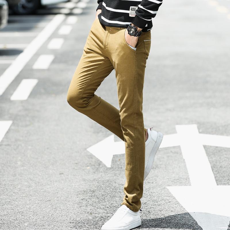 秋季韩版男士休闲裤男弹力男裤子束脚休闲长裤直筒修身男裤子冬款