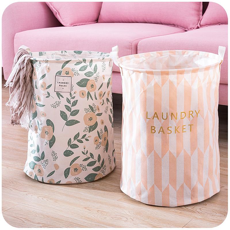 北欧风大号家用简约脏衣篮篓可折叠布艺脏衣服玩具收纳筐桶洗衣篮