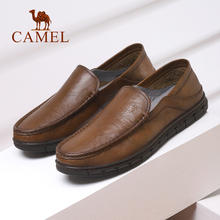 Camel men's shoes leather autumn and winter 2019 new business light casual leather shoes set foot soft sole comfortable dad's shoes